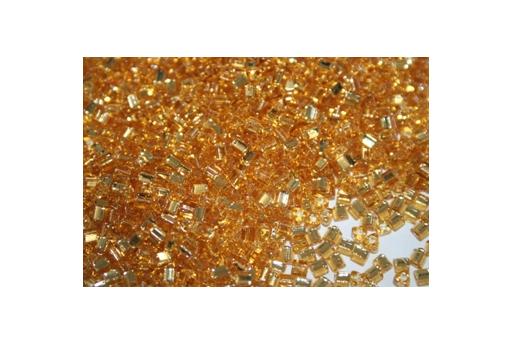 Toho Triangle Beads 8/0, 10gr., Silver-Lined Med Topaz TT22B