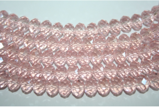 Filo 70 Perline Vetro Rosa Rondella 8x6mm VE62D
