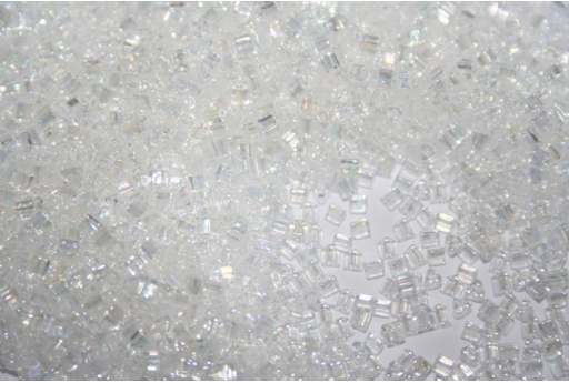 Toho Triangle Beads 11/0, 10gr., Trans-Rainbow Crystal TT11-161