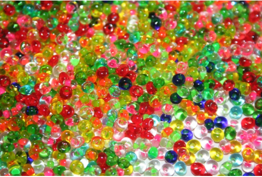 Toho Magatama Beads 3mm, 10gr., Color Lined Mix CM3BM61