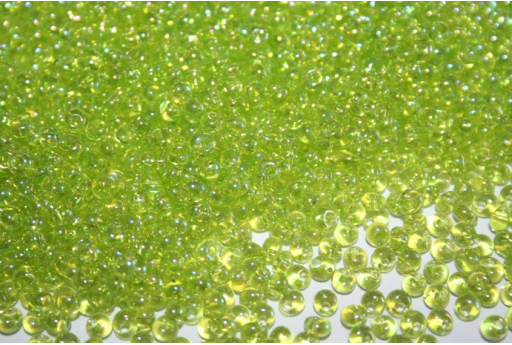 Perline Toho Magatama 3mm, 10gr., Trans-Rainbow Lime Green CM3164