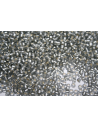 Toho Seed Beads 8/0, 10gr., Silver-Lined Frosted Black Diamond Col. 29AF