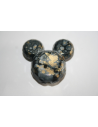 Acrylic Beads Black Gold Mickey Mouse 34x37mm - 4Pz