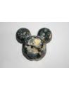 Perline Acrilico Nero Oro Mickey Mouse 34x37mm - 4Pz