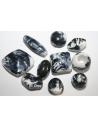 Acrylic Beads White Black Mixed Shapes 30-10mm - 14pz