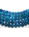 Agate Beads Blue Faceted Sphere 12mm - 32pz