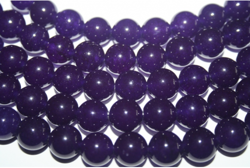 Jade Beads Amethyst Sphere 12mm - 4pz