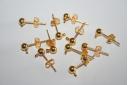 Orecchini Perno Colore Oro 16mm - 4pz
