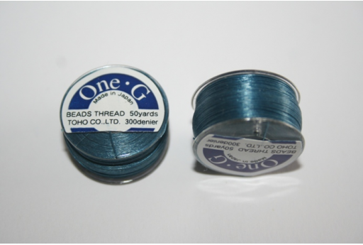 Toho One-G Nylon Thread 0,20mm Blue 46m MIN89A