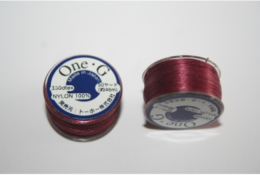 Toho One-G Nylon Thread 0,20mm Red 46m MIN89B