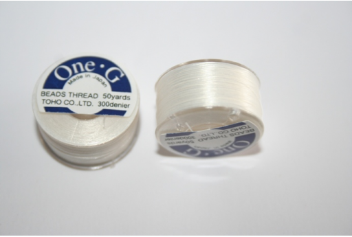 Toho One-G Nylon Thread 0,20mm White 46m MIN89D