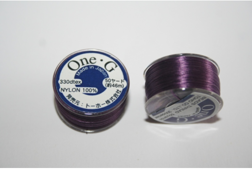 Toho One-G Nylon Thread 0,20mm Violet 46m MIN89F