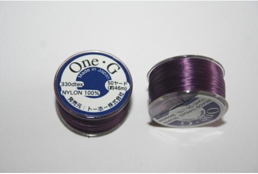 Toho One-G Nylon Thread 0,20mm Violet 46m MIN89F