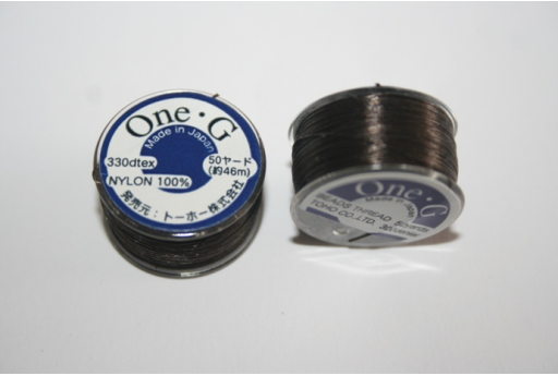 Toho One-G Nylon Thread 0,20mm Brown 46m MIN89G