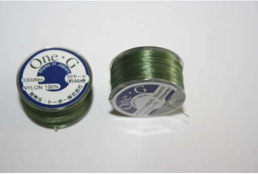 Toho One-G Nylon Thread 0,20mm Green 46m MIN89H