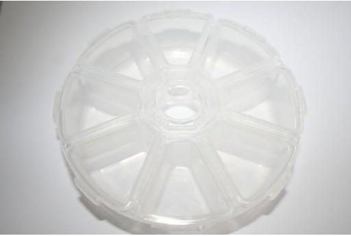 Contenitore Plastica 8 Comparti 11x11x2,7cm. UT16