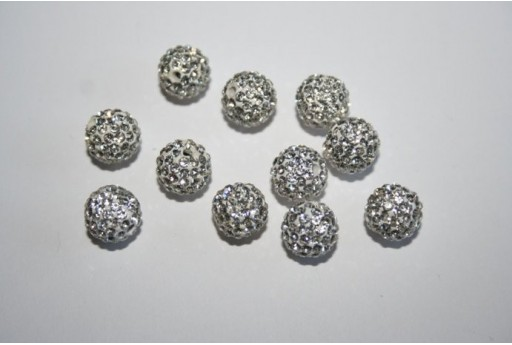 Resin Beads Rhinestone Sphere 8mm - 1pz