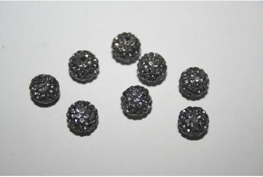 Perlina Pave' Grigia Sfera 8mm RE0814