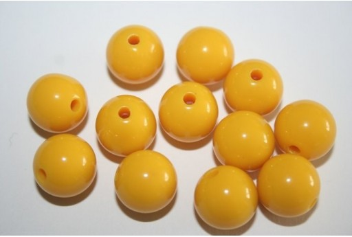 Perline Acrilico Giallo Sfera 12mm - 30pz