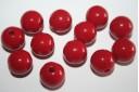 Perline Acrilico Rosso Scuro Sfera 12mm - 30pz