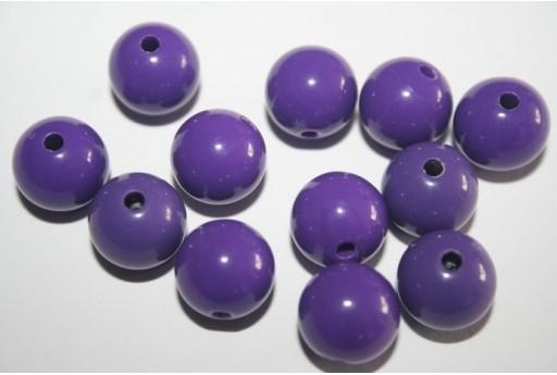 Perline Acrilico Viola Sfera 12mm - 30pz