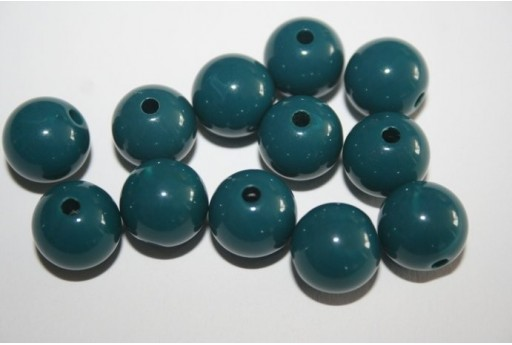 Perline Acrilico Blue Petrolio Sfera 12mm - 30pz