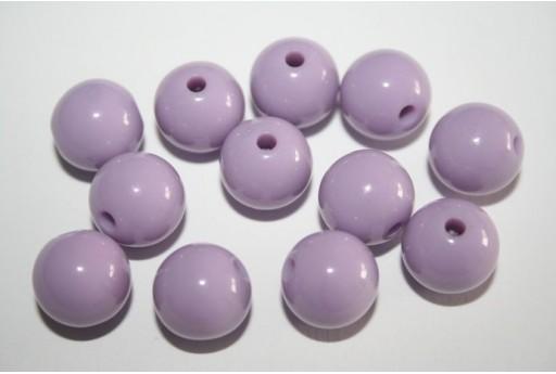 Perline Acrilico Lilla Sfera 12mm - 30pz