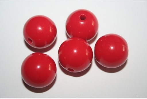 Acrylic Beads Red Sphere 16mm - 20pz