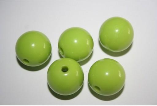 Perline Acrilico Verde Chiaro Sfera 16mm - 20pz