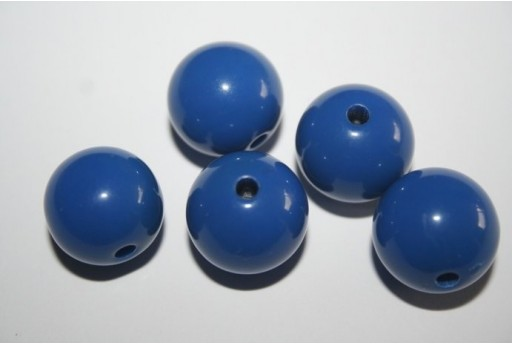 Perline Acrilico Blue Sfera 16mm - 20pz