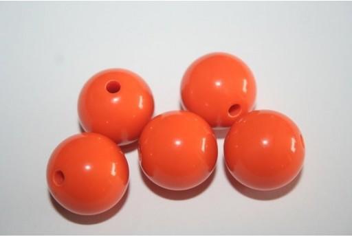 Perline Acrilico Arancio Sfera 16mm - 20pz