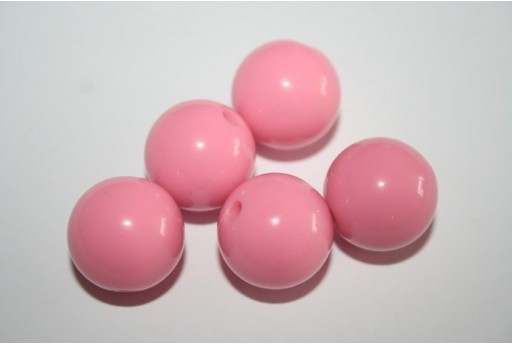 Perline Acrilico Rosa Sfera 16mm - 20pz