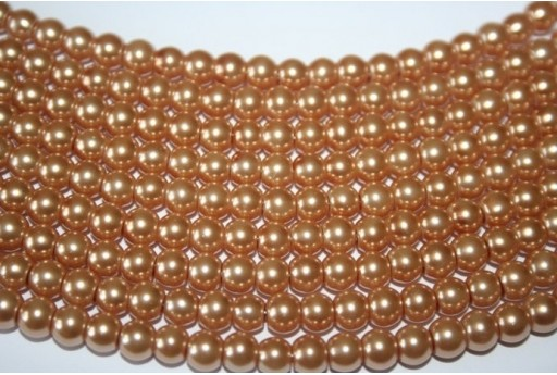 Glass Beads Golden Sphere 6mm - Filo 68pz