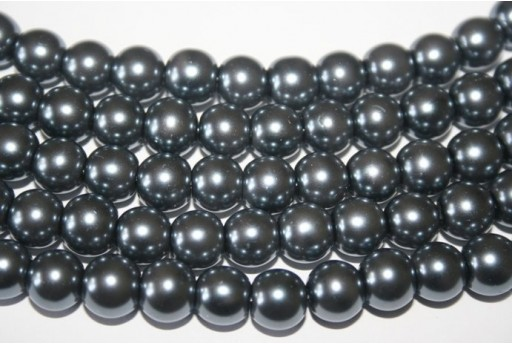 Glass Beads Dark Grey Sphere 10mm - Filo 44pz