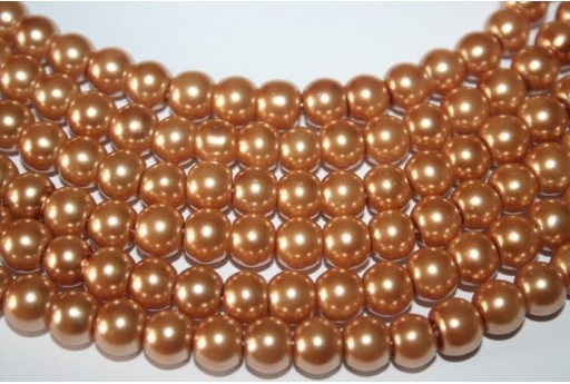 Glass Beads Golden Sphere 8mm - Filo 52pz
