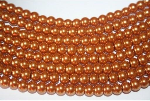 Glass Beads Bronze Sphere 6mm - Filo 68pz