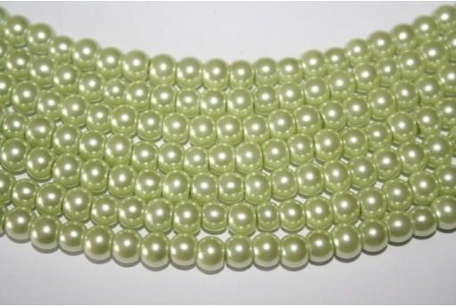 Glass Beads Light Lemon Sphere 6mm - Filo 68pz