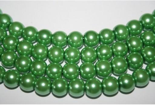 Perline Vetro Verde Acqua Sfera 10mm - Filo 44pz