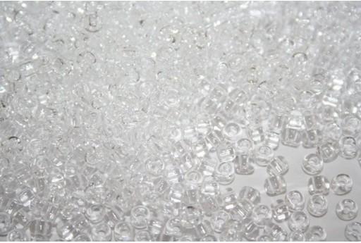 Perline Toho Round Rocailles 6/0, 10gr., Transparent Crystal Col.1