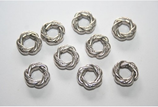 Tibetan Silver Ring Connectors 11mm - 10pcs