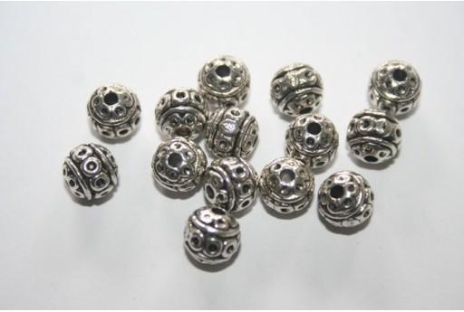 Palline Argento Tibetano 8mm - 8pz