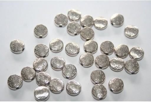 Pasticche Argento Tibetano 7mm - 16pz