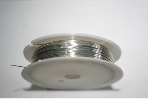 Rocchetto Filo 0,4mm Colore Argento 10mt. MIN91