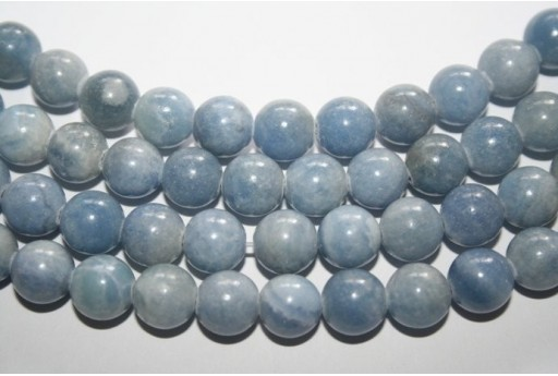 Rhodochrosite Light Blue Round Beads 10mm - 2pcs