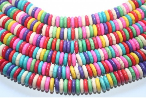 Multicolour Turchese Disk Bead Strand 12x3,5mm 112pcs TUR13