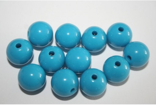 Acrylic Beads Sky Blue Sphere 12mm - 30pz