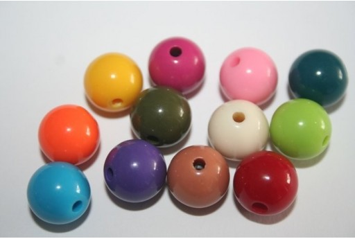 Perline Acrilico Colore Misto Sfera 12mm - 30pz