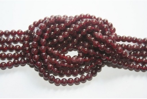 Garnet Beads Sphere 4mm - 90pz