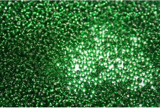 Perline Toho Round Rocailles 11/0, 10gr. Silver-Lined Grass Green Col.27B