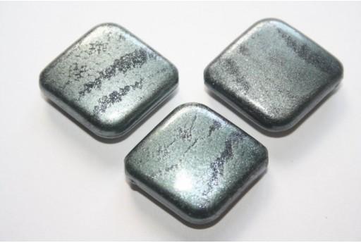 Acrylic Beads Grey Rhomb 30x26mm - 10pz